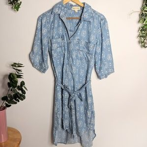 Anthropologie Cloth & Stone Chambray Dress Tribal